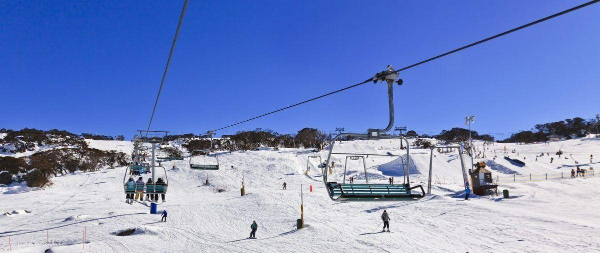 Perisher Ski Resort - SM Perisher Slope From Chair Lift