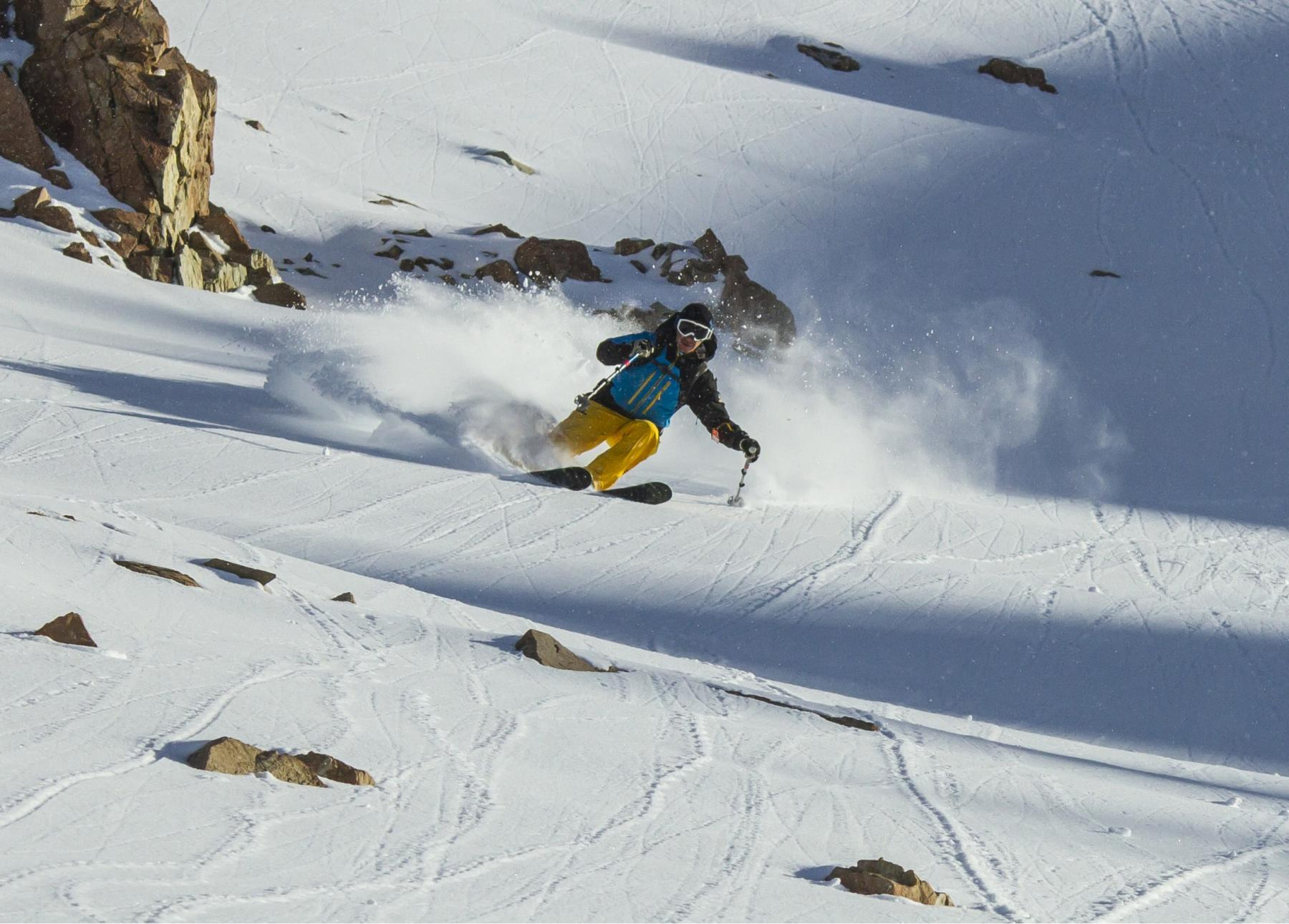 FreeRide Skier, Treble Cone, New Zealand-min