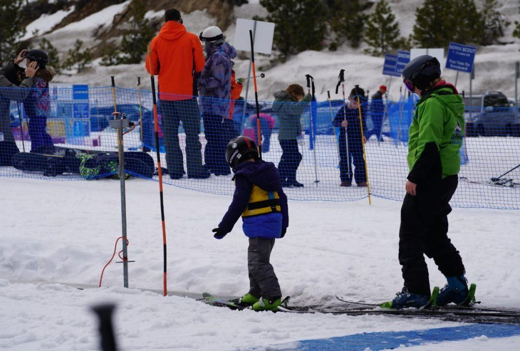 Children's ski and snowboarding lessons at Diamond Peak Ski Resort in Incline Village