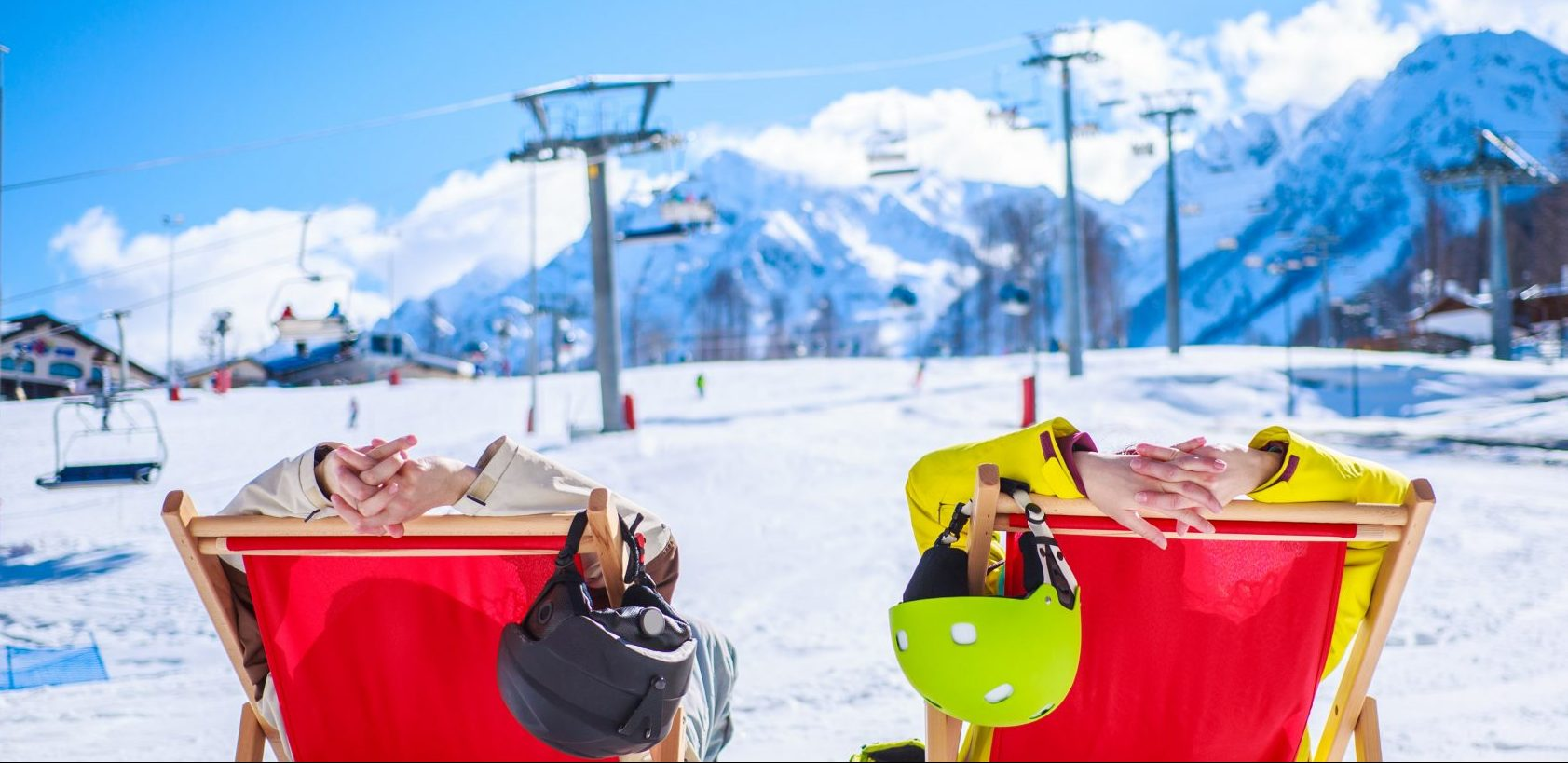 Couple relaxing at Heavenly Ski Resort