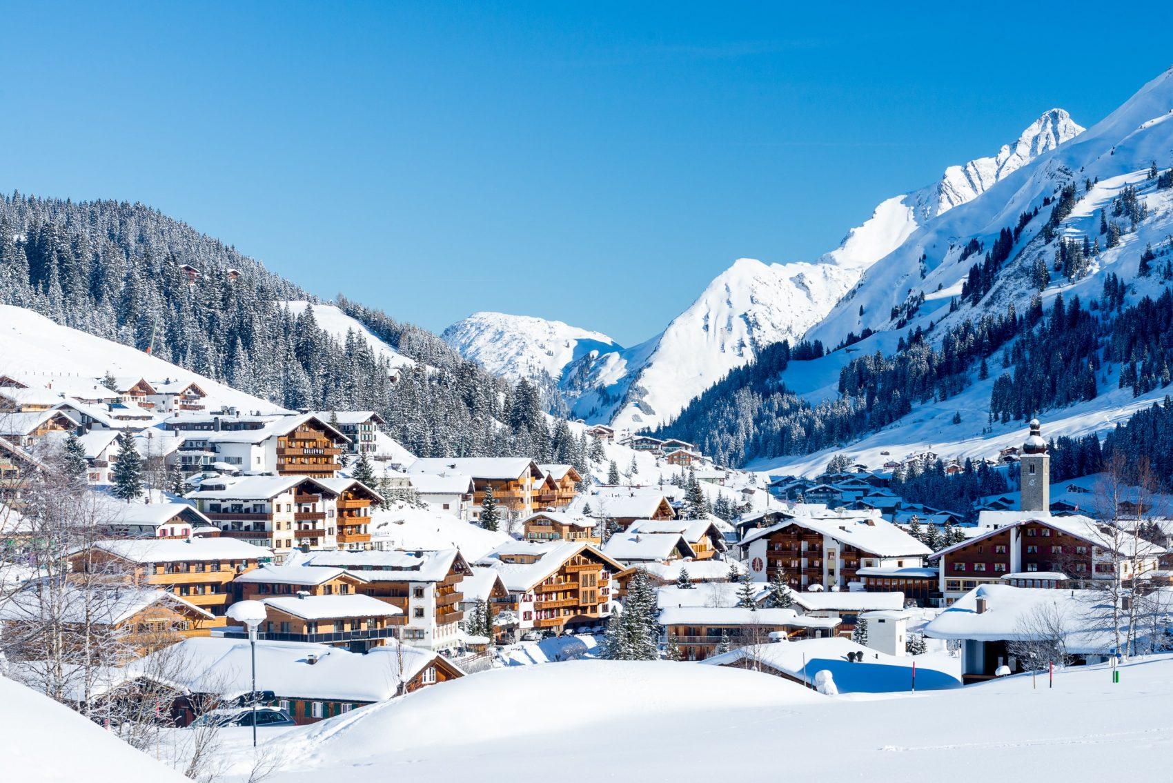 A Winter Village View over Lech, Austria